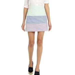 Brooks Brothers Seersucker A-line Striped Skirt